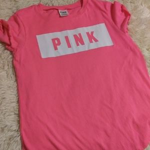 Pink Victoria Secret / Perfect Crew Tee - Hot Pink